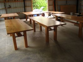 Tables for the Clyde Commons restaurant. A collaboration with the excellent Benjamin Clark