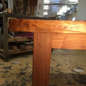 Walnut table detail
