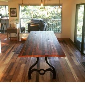 Doug fir dining table