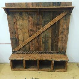 Hallway bench and coat rack contraption. Doug fir