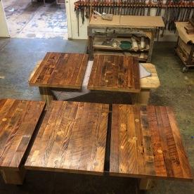 Batch of thick tabletops. Doug fir.
