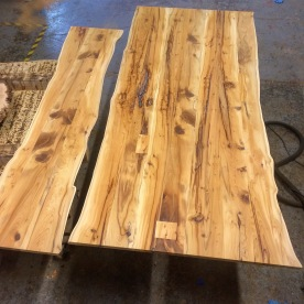table and bench top . Yew wood