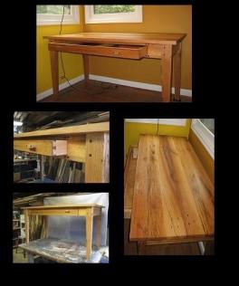salvaged oak desk