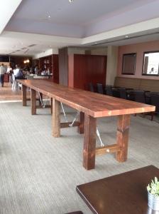 Twenty one foot table.